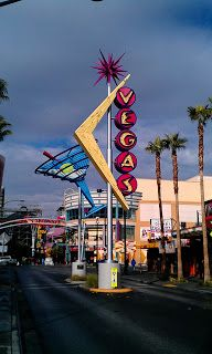 Running by these Las Vegas neon signs through the old downtown