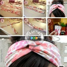 How to make a turban headband Today we propose, a very simple craft, recycling an old shirt in a tur Hair Turban, Turban Headbands, Diy Headband, Diy Hair Scrunchies, Old Shirts, Hand Embroidery Stitches, Clothes Crafts, Diy Crafts To Sell, Diy Hairstyles