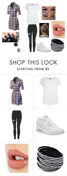 """""""Lazy"""" by designgirl-123 on Polyvore featuring LE3NO, Topshop, NIKE, Charlotte Tilbury and Tacori"""