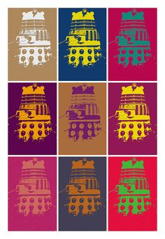 DALEK - In the style of Andy Warhol by Time Gypsies, via Flickr