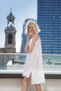 Classic I white I tunic I dress