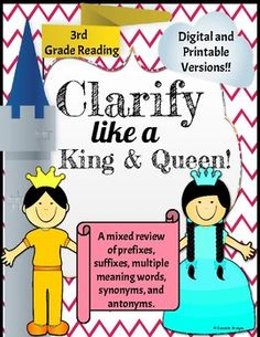 Clarify like a King and Queen Digital and... by The Digital Daydreamer | Teachers Pay Teachers