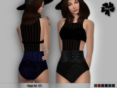 The Sims Resource: Romper Suit KAT by Izzie McFire • Sims 4 Downloads