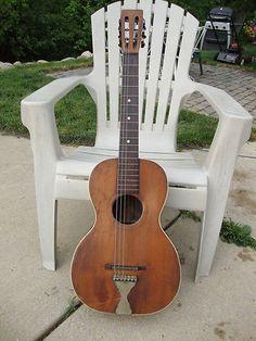 Vintage 1920s PARLOR GUITAR Stella Oscar Schmidt Acoustic Gibson 6 Strings WOW!