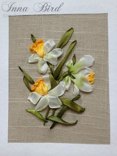 Wonderful Ribbon Embroidery Flowers by Hand Ideas. Enchanting Ribbon Embroidery Flowers by Hand Ideas. Ribbon Art, Diy Ribbon, Ribbon Crafts, Flower Crafts, Types Of Embroidery, Hand Embroidery Patterns, Embroidery Stitches, Embroidery Designs, Machine Embroidery
