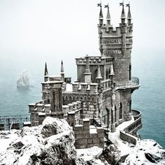 The Swallow's Nest is a castle built by a German nobleman and used as a sanatorium for high-ranking military officers in Soviet times. Perched precariously on a mountain promontory, it is now a moderately priced Italian restaurant. But the food takes second place to the mysterious atmosphere and exotic setting that would make James Bond feel right at home.