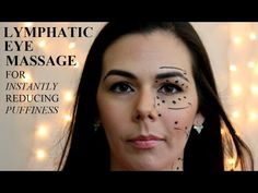 Wake Up Facial Massage. Lymph Drainage and Ear Massage. Massage Benefits, Massage Tips, Anti Rides Yeux, Technique Massage, Face Yoga Method, Lymphatic Drainage Massage, Under Eye Puffiness, Face Exercises, Under Eye Bags