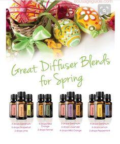 Diffuser blends for spring