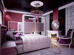 unique purple bedroom designs for young adult women