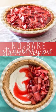 Well this dessert is going to rock your socks! Simple enough to whip up the morning before your barbecue, yet delicious enough to make everyone go back for seconds. I recently made this fresh strawberry pie for some neighbors we had over for dessert. Easy Pie Recipes, Cooking Recipes, Diet Recipes, Kitchen Recipes, Recipies, Easy Desserts, Delicious Desserts, Spring Desserts, Oreo Trifle