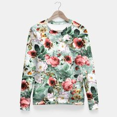 Rpe Seamless Floral Pattern I Fitted Waist Sweater #floral #fashion #pattern #spring #summer #design