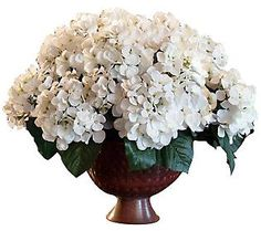 Cream Hydrangea Centerpiece by Valerie