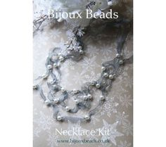 Pearl & Organza Necklace Making Kit all it takes is a strip of organza and some beads, hmmm Jewellery Making, Beaded Necklace, Kit, Pearls, Bracelets, Jewelry, Beaded Collar, Jewlery, Jewelry Making