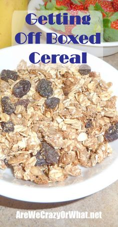 Step by step directions for making your own cereal. #beselfreliant