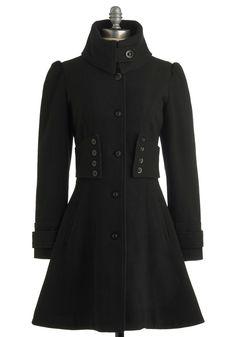 The Importance of Being Onyx Coat | Mod Retro Vintage Coats | ModCloth.com
