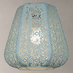 BuyJohn Lewis Easy-to-fit Rosanna Ceiling Pendant Shade, Blue Online at johnlewis.com