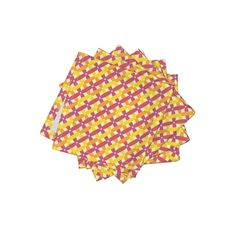 Frizzle Cocktail Napkins featuring Summery Lattice  by websterfiberarts | Roostery Home Decor