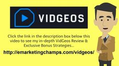 https://www.youtube.com/watch?v=_KhXB4RUS3o - VidGeos Review  You Need To Begin in the Beginning  Getting the foot in the door having a brand new customer is the top priority. All of us understand they sales cycle usually takes quite a long time sometimes. But if you're going using a service or product that's somewhat affordable and will be identified promptly using a demand, you then can certainly shorten than cycle a good deal.