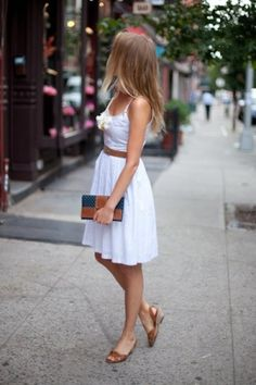 Perfect white summer dress, with a colored cardi, perfect. by beverly