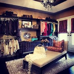 Turn a spare bedroom into a guest bedroom? No! A dream closet instead! This is exactly what I've been saying I need!