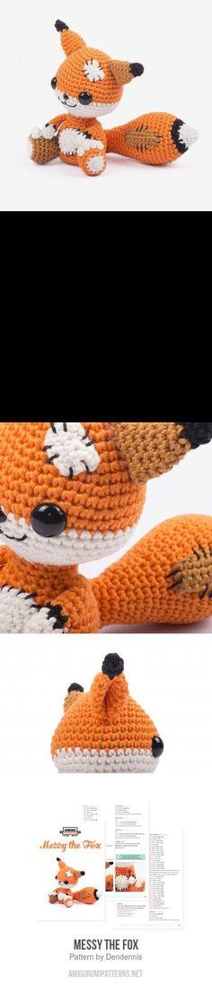 Messy the Fox amigurumi pattern