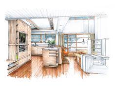 Floor - Shadow  A Kitchen Proposal for Rudolf Schindler's Lovell Beach House
