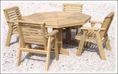"""""""Octagonal Table Set with Chairs PLANS"""","""
