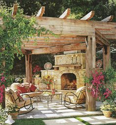 Pergola and Fireplace