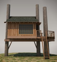 Treehouse Plan No. 01: Tonasket by Pete Nelson from Treehouse Masters – Be in a Tree