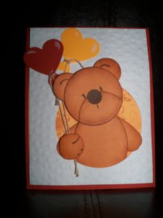 punch art baby card- inspiration from Pat Carr- SU! Australia Demonstrator