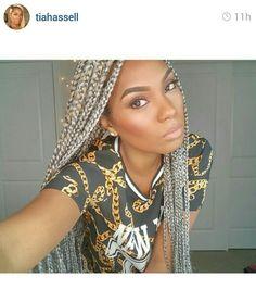 These Grey box braids though