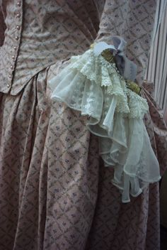 18th Century Gown Silk  and Cotton KathleenCrowleyCouture