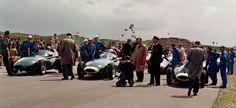 Zandvoort 1958 Prima fila tutta Vanwall con Lewis-Evans, Moss e Brooks