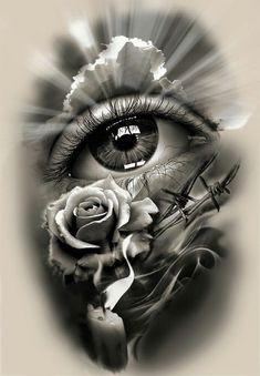 Skull Tattoos, Rose Tattoos, Leg Tattoos, Arm Tattoo, Body Art Tattoos, Tattoo Drawings, Sleeve Tattoos, Tatoos, Tattoo Ink