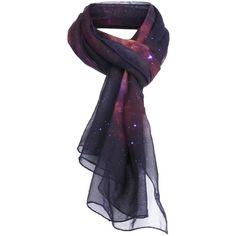 Galaxy Print Scarf ($15) ❤ liked on Polyvore featuring accessories, scarves, galaxy and romwe