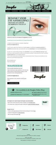 Douglas - welkomstmail