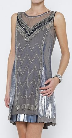 Philosophy di Alberta Ferretti Grey, Silver And Multicolor Dress