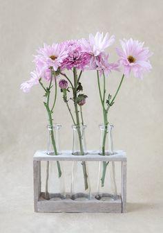 Summer House Vase Rack at ヾ(^∇^) Vintage Room, Vintage Decor, Flowers Nature, Colorful Flowers, Art Studio Design, Glass Vessel, Room Themes, My Room, Flower Decorations
