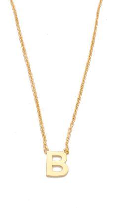 """C"" Gorjana Alphabet Necklace"