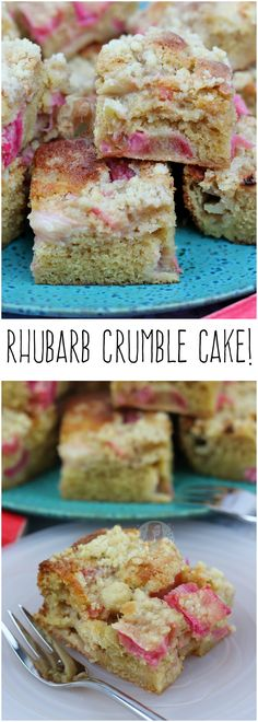 Rhubarb Crumble Cake!! Easy, Delicious, Rhubarb Crumble in Cake form…!