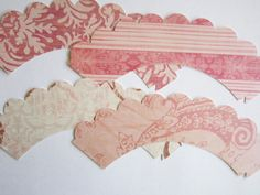 Blush Cupcake Wrappers by outsidetheboxdessert on Etsy, $8.00