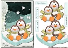 Winterfun In The Snow Cute penquins - CUP729900_936 | Craftsuprint