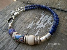 Artisan Jewelry Handmade Bracelet Lapis door SimpleeSilver