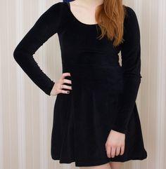 Vestido Black Velvet ♥ (P,XG) Pronta Entrega - Toda Frida