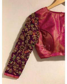 Pattu Saree Blouse Designs, Designer Blouse Patterns, Fancy Blouse Designs, Bridal Blouse Designs, Blouse Neck Designs, Pattern Blouses For Sarees, Brocade Blouse Designs, Hand Work Blouse Design, Stylish Blouse Design