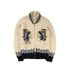 VTG COWICHAN INDIAN ZIP HAND-KNIT WOOL CARDIGAN SWATER Wool Cardigan, French Vintage, Hand Knitting, Beanie, Hands, Indian, Zip, Hoodies, Sweaters