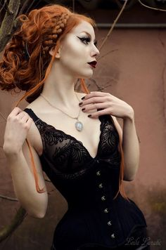Model,MUA, hair, photo, retouch: Leila LunaticNecklace: Elegant CuriositiesWelcome to Gothic and Amazing | www.gothicandamazing.org