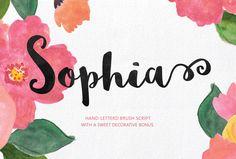 Free brush font - Sophia Font