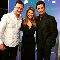 """Pin for Later: The Full House Cast Really Loves One Another in Real Life  John: """"Thank you to my sweet @loriloughlin for doing a bit on Kimmel with me today. XO"""""""