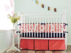 Tushies and Tantrums Boutique Crib Set, Coral and Navy Blue Suzani Tushies and Tantrums http://www.amazon.com/dp/B00JUR4LO0/ref=cm_sw_r_pi_dp_G0gStb0777DPZPV7